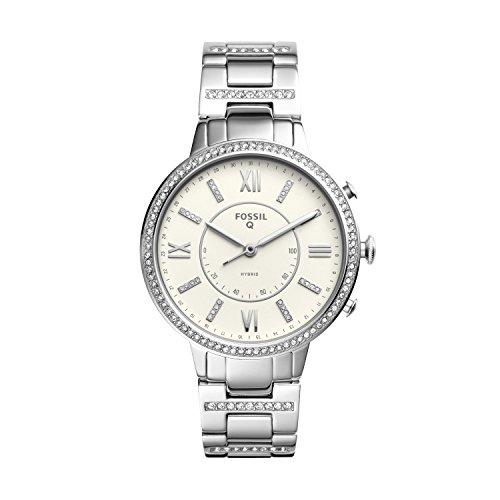 Stainless Bracelet Fossil Steel Womens (Fossil Q Women's Virginia Stainless Steel Hybrid Smartwatch, Color: Silver-Tone (Model: FTW5009))