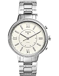 Q Women's Virginia Stainless Steel Hybrid Smartwatch, Color: Silver-Tone (Model: FTW5009)