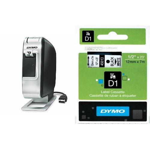 (DYMO LabelManager Plug N Play Label Maker (1768960) + 2 Bonus Rolls of 1/2