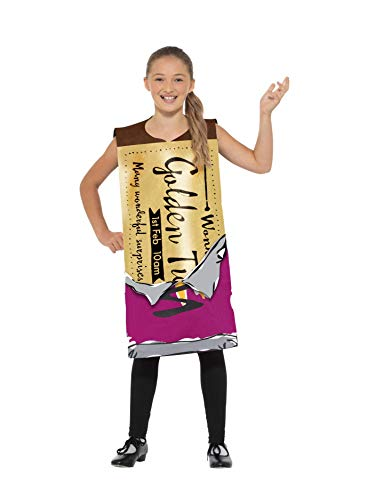Smiffy's Roald Dahl Winning Wonka Bar Costume, Purple, Medium - Large, UK 8-12