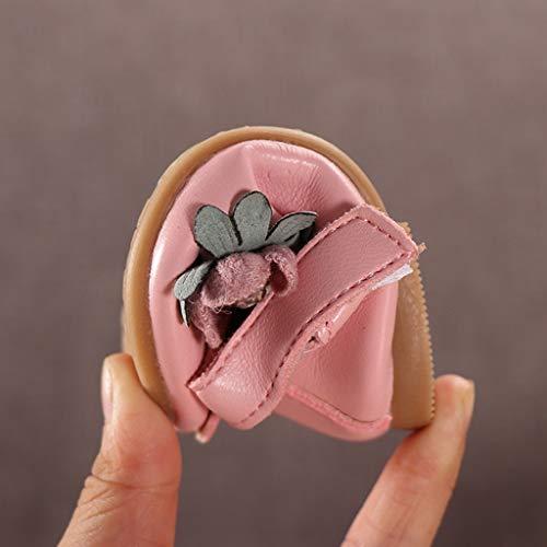 Bambini Danza Dolce Per Piccole Sneaker Infanzia Pelle Da Principessa casuale Prima Scarpe Pelle Elegante Di In Rosa Scarpine Zarupeng 5gndx5aP4