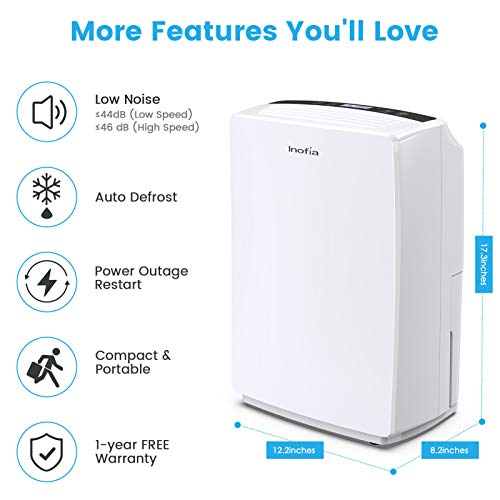 Inofia 30 Pint Dehumidifier For 1500 Sq Ft Home Basements Bedroom Bathroom Garage Laundry Room Grow Room Office Compact Electric Dehumidifiers For Quiet Efficient Intelligent Humidity Control On Small Medium Rooms Pricepulse