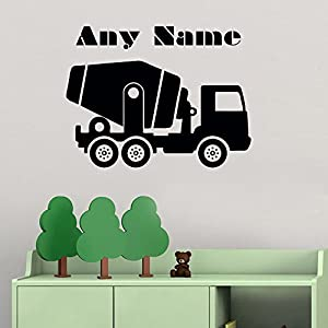 Amazoncom Personalized Wall Decals Car Auto Concrete Mixer Truck - Wall decals carscars wall decals add photo gallery car wall decals home design ideas