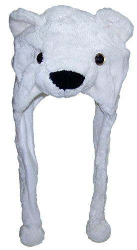 Best-Winter-Hats-AdultTeen-Plush-Animal-Character-Ear-Flap-Hat-Polar-Bear