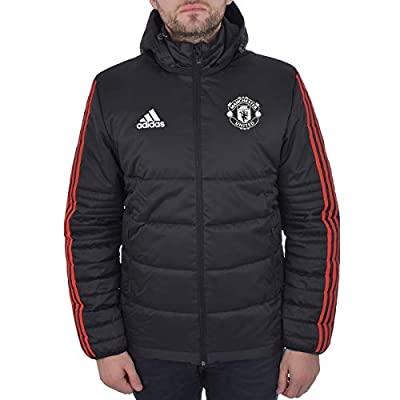 adidas Performance Mens MUFC Man United Padded Jacket -Black/Red