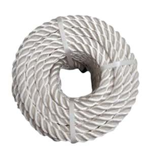 Reino Unido RopeServices 50Mts X 12 mm poliéster blanco 3 Strand cuerda.