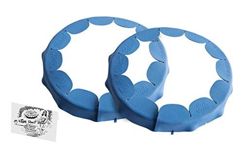Talisman Designs Adjustable Ripple Pie Crust Shield, BPA-free Silcone, Royal Blue, Fits 8.5
