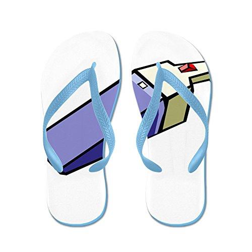 Cafepress Handheld Stofzuiger - Flip Flops, Grappige String Sandalen, Strand Sandalen Caribbean Blue
