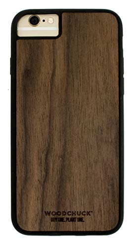 Woodchuck Real Wood Case for iPhone 7/8 - Three Premium Wood Options (Cedar, Mahogany, or Walnut) - Protect Screen and Edges - Unique Grain for Each Case - Made in USA