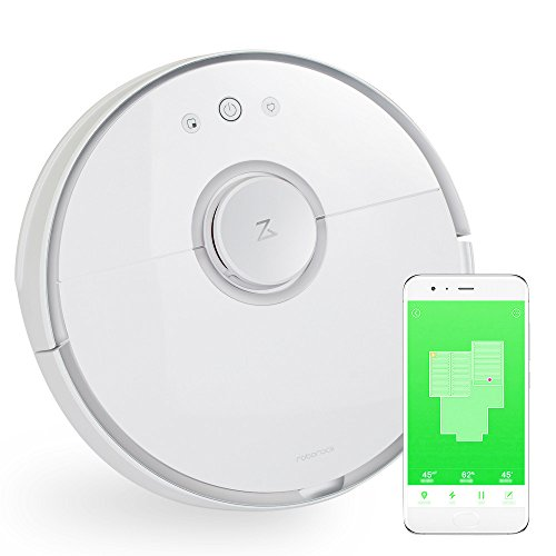 Xiaomi Robot Vacuum Automatic Cleaner for Home Use White with Laser Guidance System 2 in 1 Sweep Mop LDS Bumper SLAM Path Planning Vaccum Sweeper Easy for Pet Fur on Hard Floor