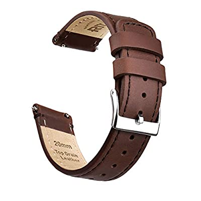 Ritche Quick Release Leather Watch Band Top Grain Leather Watch Strap 18mm, 20mm or 22mm for Men by Ritche