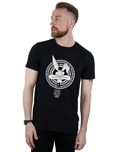 - Looney Tunes Men's Wile E Coyote Super Genius T-Shirt Black X-Large