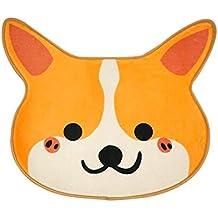 Nayo The Corgi - Cute Corgi Door and Bath Mat 26 x 21 x .25 Dog Lover's gift super soft (Orange)