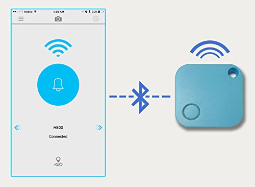 Smigic Key Finder, Phone Finder, GPS Locating, Bluetooth camera press button, Splash Proof
