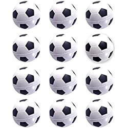 Mini Sports Balls for Kids Party Favor Toy, Soccer Ball, Basketball, Football, Baseball (12 Pack) Squeeze Foam for Stress, Anxiety Relief, Relaxation. (12 Pack (Soccer balls))
