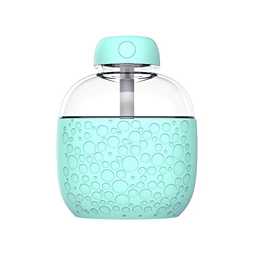 Tioland Mini Car USB LED Air Humidifier Diffuser Essential Oil Home Office Steam Aroma Mist Purifier Atomizer (Blue)