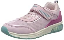 Geox J SPACECLUB Girl C, Zapatillas para Niñas, Rosa (Pink C8005), 28 EU