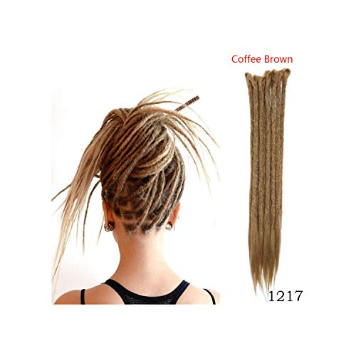 20inch Handmade Dreadlocks Reggae Crochet Hip-Hop Synthetic Dreads Crochet Braiding Hair,#3,20inches,5Pcs/Lot ()