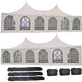 DELTA Canopies 40'x20' PVC Pagoda Tent - Heavy Duty Party Wedding Canopy Gazebo - with Storage Bags