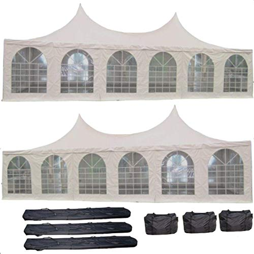 DELTA Canopies 40'x20' PVC Pagoda Tent - Heavy Duty Party Wedding Canopy Gazebo - with Storage Bags