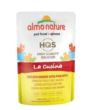 Almo Nature Pre-Cooked Gourmet Sourced La Cucina Wet Cat Food 24 Pouches 1.94 oz Each (Chicken with Pineapple in Gravy) by Almo Nature USA Inc.