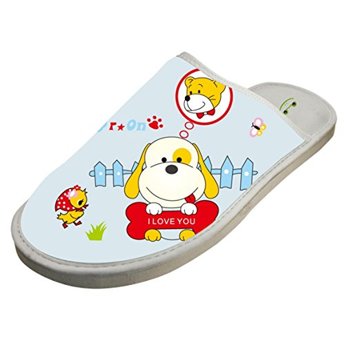 4B854DF6B Cotton Adorable Puppy Dogs Pup House Slippers Babouches Baboosh Chinela Slipper for Man Woman Kids Children
