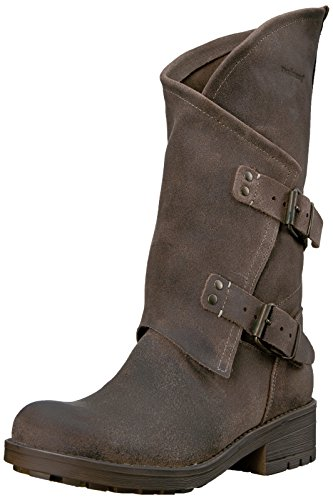 Coolway Womens Alida Moto Stivale Marrone Scuro