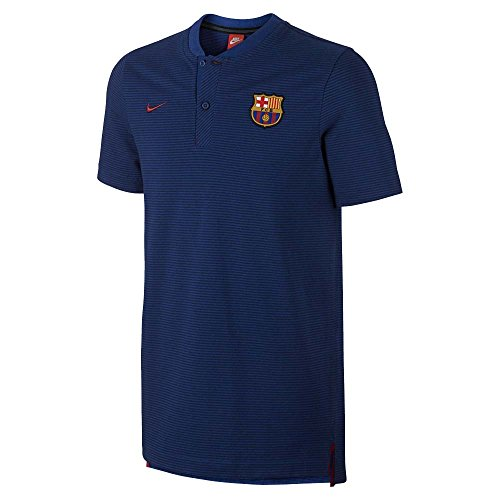2017-2018 Barcelona Nike Authentic Polo Shirt (Obsidian)