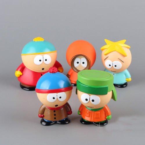 "gg 5pcs/set Characters South Park Action 6cm or 2.4"" PVC Figures Dolls Kids Gift"