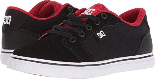 DC Youth Anvil Skate Shoe, Black/Red, 6 M M US Big (Red Skateboard Shoe)