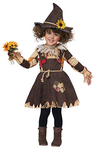 Girl Scarecrow Halloween Costumes (California Costumes Pumpkin Patch Scarecrow Toddler Costume-Large (4-6))