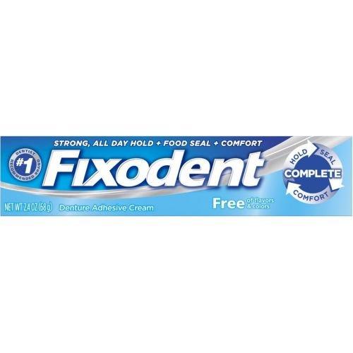 Fixodent Complete Free Denture Adhesive Cream, 2.4 Ounce -- 144 per case.