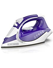 """BLACK+DECKER ICL500C Light 'N Go Cordless Iron with Nonstick Soleplate, 6.25"""" x 11.6"""" x 5"""", Purple"""