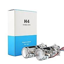 Car Rover H4 Projector Lens Mini Lossless HID Bi xenon Hi/Lo Retrofit with HID Bulb Built In 6000K