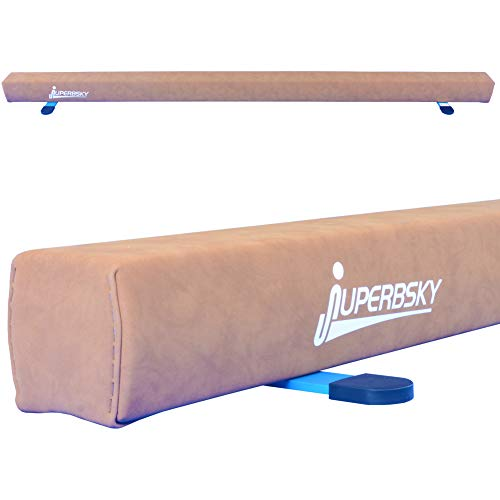 Juperbsky Wood Balance Beam - Go Home & Play! - 8FT Long Suede - Let You Practice Safely Happily!