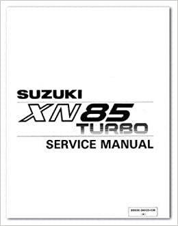 U99500-36020-03E Used 1983 Suzuki XN85D Turbo Service Manual: Manufacturer: Amazon.com: Books