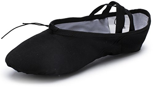 Girls Children Slipper Shoes Adults and Split Black Ballet Sole Ladies Practice Canvas CPDANCE TM Yoga Dancing Shoes For ZwqR78g8x