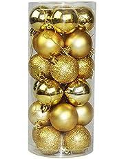 24 PCS 4cm Modern Christmas Tree Ball Baubles Xmas Party Wedding Hanging Ornament Christmas Decoration