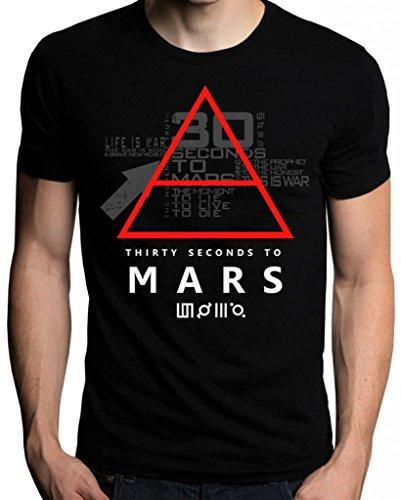 30 Thirty Seconds To Mars Glyphic Symbol Logo Men's T-Shirt X-Large -