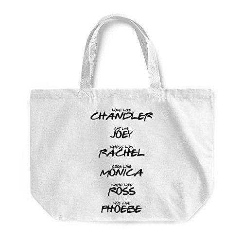 Show Bag Cool Beach Gift White Friends Maxi Gym Bag Shopping Funny For TV of Best tYXqPzx