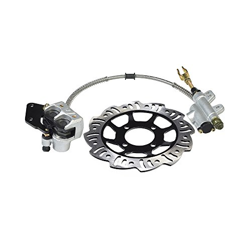 AlveyTech Rear Foot Brake, Disc, Pads, Master Cylinder Assembly for 110cc & 125cc Dirt Bikes