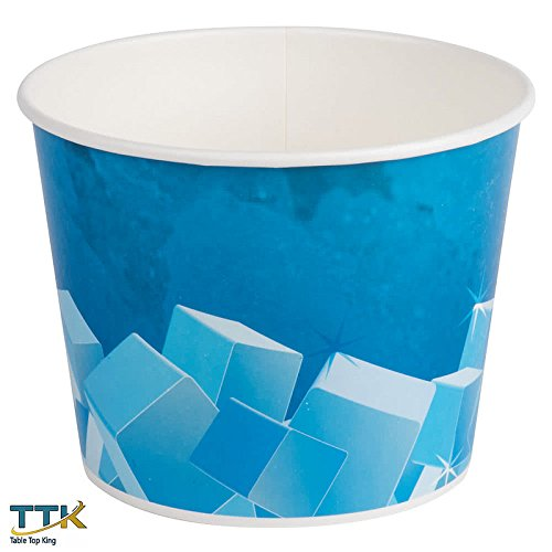 Tabletop king 5 lb. Disposable Paper Ice Bucket - 25 / Pack -