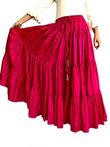 Rosa Color Adaptable Falda Única Talla Mercedes Flamenco Para Ideal Henares Modelo Baile Mujer Y Sevilla Espectáculos YUZ0fwqZ