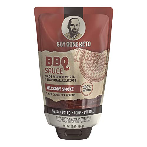 Guy Gone Keto BBQ Sauce | Infused with MTC Oil | Paleo BBQ Sauce | Low Carb BBQ Sauce | No Artificial Sweeteners | Sweetened with All Natural Allulose, Monkfruit & Stevia | 14 oz. (Single)
