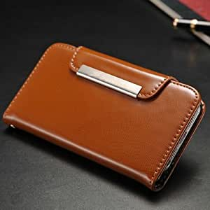 Vintage FASHION Leather Wallet case for iPhone 5 5S 5g With Stand Phone Bag with Card Holders + 1 Bill Site + 9 colors --- Color:Random colors