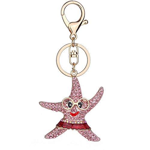 Handbag Keychains Crystal Rhinestone Charm Keyring Bag Purse Pendant Key Chain (Mode - Dsign03-01)
