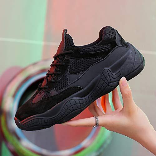 Black Zapatos Otoño Mujer Calzado De 2018 Yundongxienv Neta Hembra Primavera Red Salvaje Viejos Deportivos Deportivo Harajuku Puerto xPYwwqdtaF