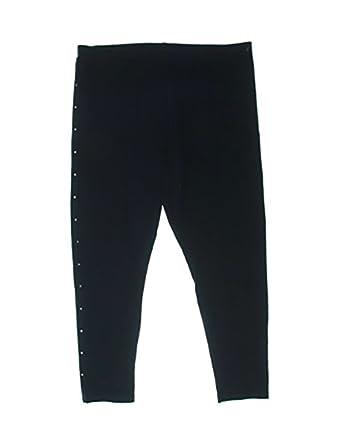344962b21fbf70 Plus Size Rhinestone Embellished Leggings - Blue -: Amazon.co.uk: Clothing