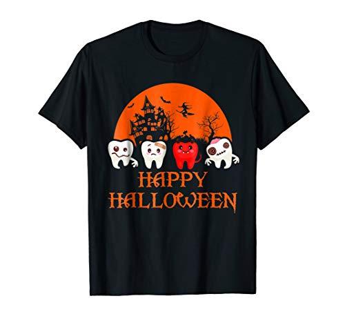 Funny Halloween Tshirt, Happy Halloween Scary Dental]()