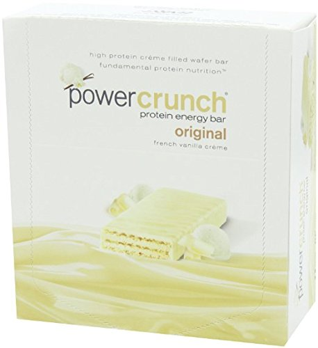 Bionutritional Research Group Power Crunch Protein Bar, French Vanilla Creme, 12 Count